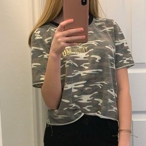 Stronger than most camo tee